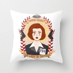 Dana Scully Throw Pillow