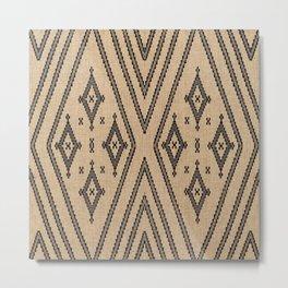 N203 - Brown Oriental Heritage African Moroccan Style Metal Print