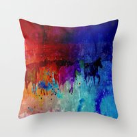 horses Throw Pillows featuring Horses  by Latidra Washington