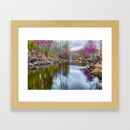 Crystal Bridges Museum Surrounded By Spring Colors Framed Art Print