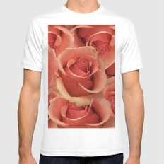 Persian Red Roses Mens Fitted Tee MEDIUM White
