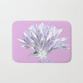Flower   Pink Chive Floral   Nadia Bonello Bath Mat