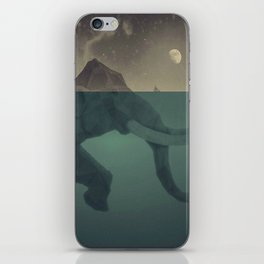 Elephant mountain iPhone Skin