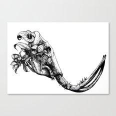 Prehistoric Bloom - The Mastodonte Canvas Print