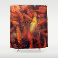 spawn Shower Curtains featuring SEA OF GOLD by Inspired