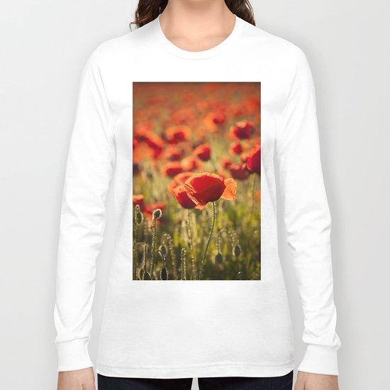 Poppies in LOVE - Poppy Flower Flowers Long Sleeve T-shirt