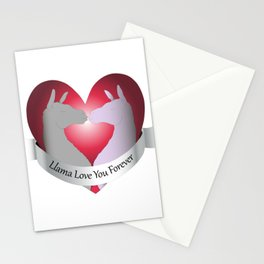 Llama Love You Forever in Color Stationery Cards