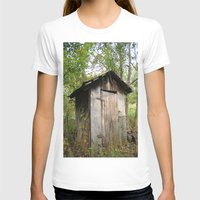 outdoor T-shirts featuring Outdoor toilet by jim snyders photography