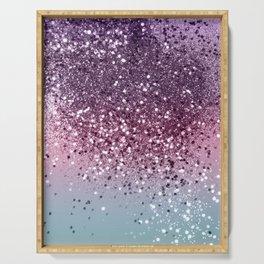 Unicorn Girls Glitter #6 #shiny #pastel #decor #art #society6 Serving Tray