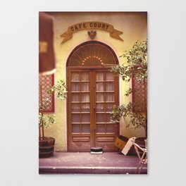 Cafe Court Canvas Print