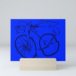 10-Speed -- Blue Mini Art Print