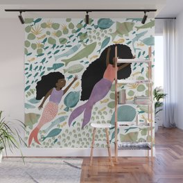 Mermaids and Fish in the Ocean Wall Mural