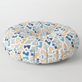 Geometric Pattern - Oriental Design Floor Pillow