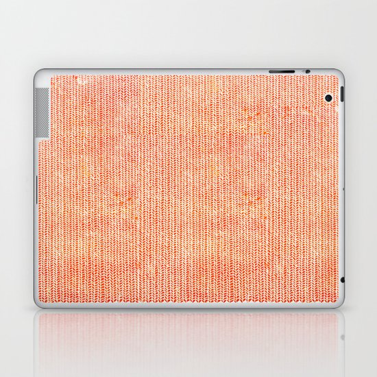 Stockinette Orange Laptop & iPad Skin