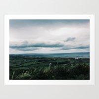 Ireland Fields Art Print
