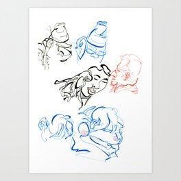 blind contours Art Print