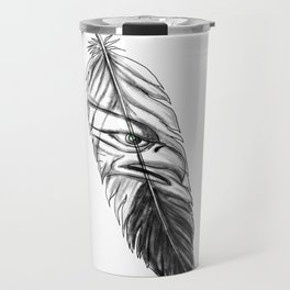 Sea Eagle Feather Tattoo Travel Mug