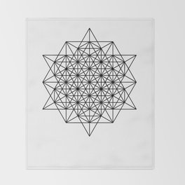 Star tetrahedron, sacred geometry, void theory Throw Blanket