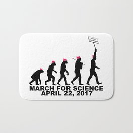 March For Science (Man) Bath Mat