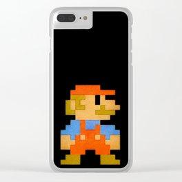 NES Mario REDUX Clear iPhone Case