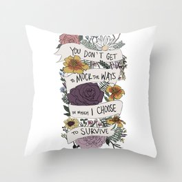 survive Throw Pillow