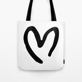 Black and White Heart Tote Bag