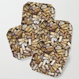 Fine Wine Corks Square Coaster