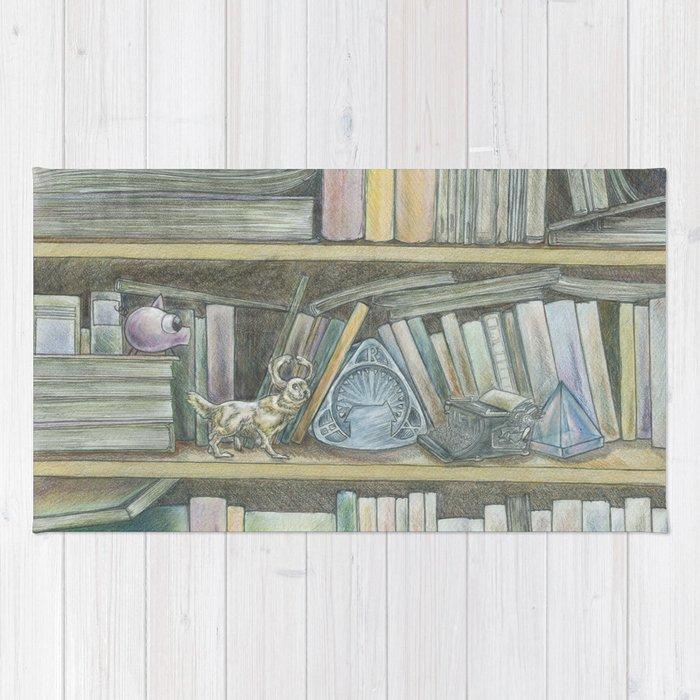 RHX Bookshelf Logo Rug