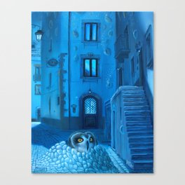 Will the night ever fall down? Canvas Print