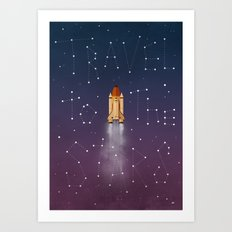 Travel to the Stars Art Print