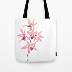 Pink Orchid Flower Tote Bag