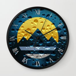 Flag of Reno - Raindrops Wall Clock