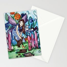 Blue Fairy´s Garden Stationery Cards