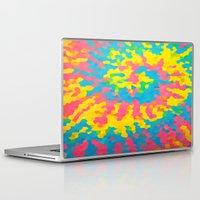 tie dye Laptop & iPad Skins featuring Tie Dye by Jillian Stanton