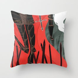 Knight of Swords Throw Pillow