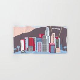 Los Angeles, California - Skyline Illustration by Loose Petals Hand & Bath Towel