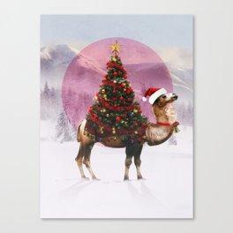 Santa Camel Canvas Print