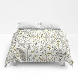 Grey Cheetahs Comforters