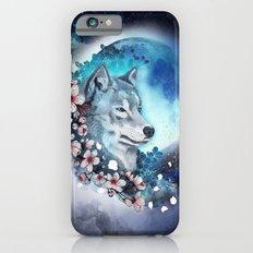 wolf and sakura in the moolight Slim Case iPhone 6s