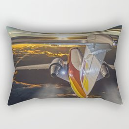 Flying at dawn Rectangular Pillow