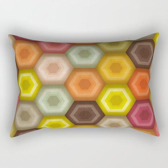 crochet honeycomb retro Rectangular Pillow