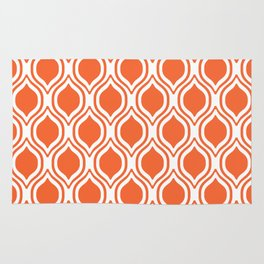 University sports clemson purple and white ogee pattern minimal college football fan Rug