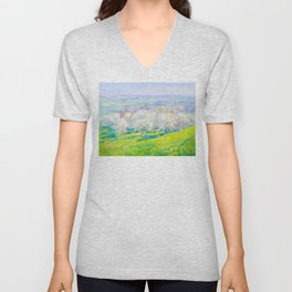 Václav Radimský (1867-1946) Blooming orchard Modern Impressionist Oil Painting Colorful Bright Unisex V-Neck