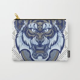Tiger Geometric Carry-All Pouch