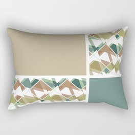 Grey-beige combo Rectangular Pillow
