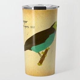 Paradise tanager bird illustration designed for bird and nature lovers Travel Mug