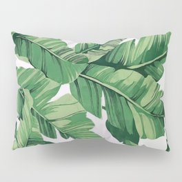 Tropical banana leaves VI Pillow Sham