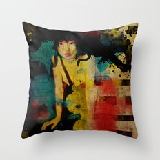 Visit Japan. Painterly Tourism Campaign Japanese style. Throw Pillow