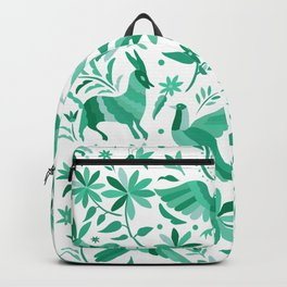 Mexican Otomí Design in Turquoise Backpack