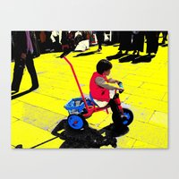 cycling Canvas Prints featuring Cycling by lookiz